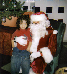 Andrew with Santa
